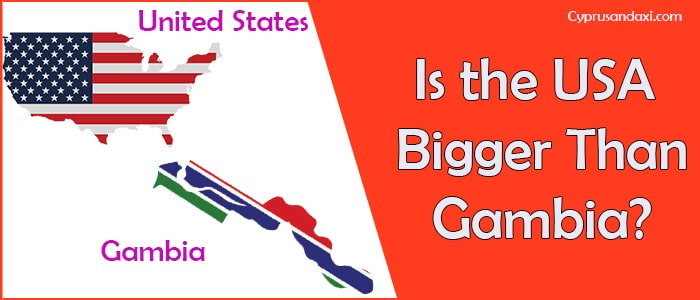 Is the United States of America Bigger Than Gambia