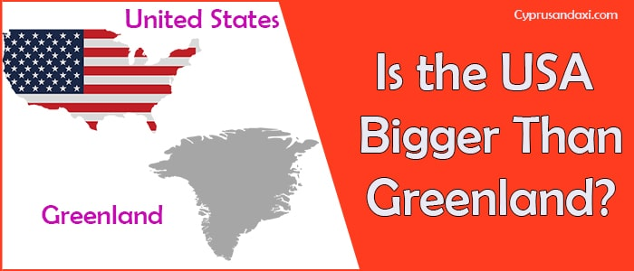 Is the United States of America Bigger Than Greenland