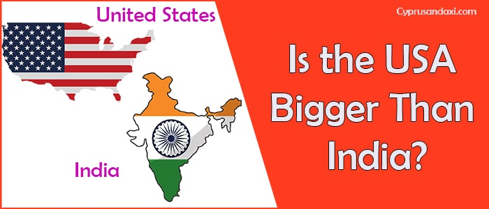 Is the United States of America Bigger Than India