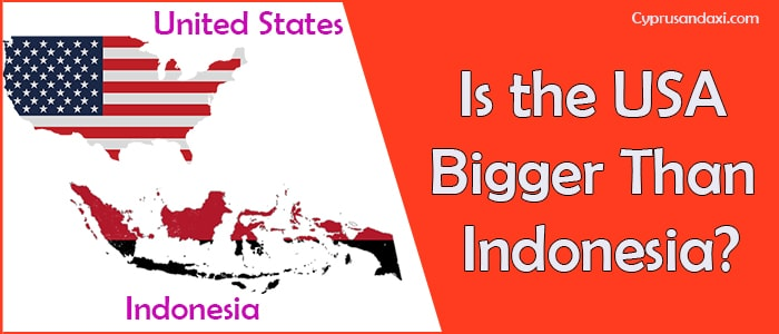 Is the United States of America Bigger Than Indonesia