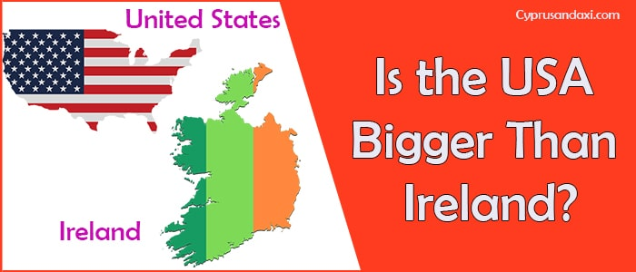 Is the United States of America Bigger Than Ireland