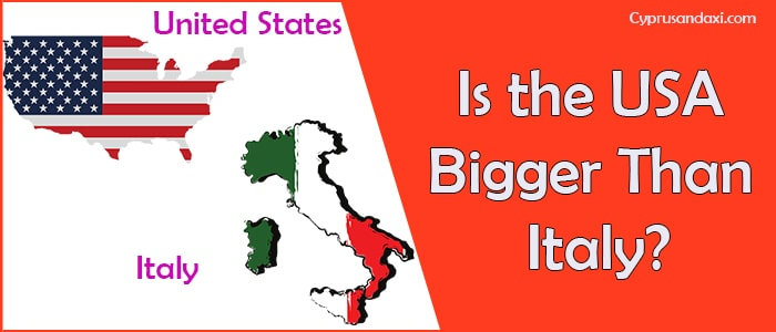 Is the United States of America Bigger Than Italy