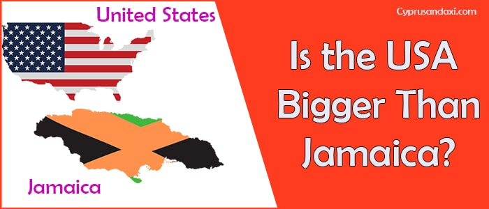 Is the United States of America Bigger Than Jamaica