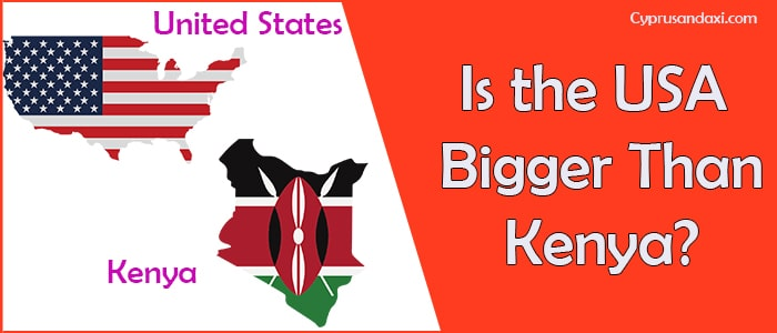 Is the United States of America Bigger Than Kenya