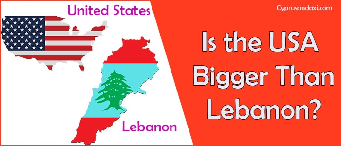 Is the United States of America Bigger Than Lebanon