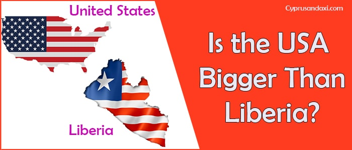 Is the United States of America Bigger Than Liberia