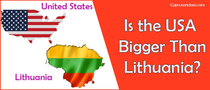 Is the United States of America Bigger Than Lithuania