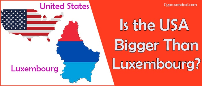 Is the United States of America Bigger Than Luxembourg