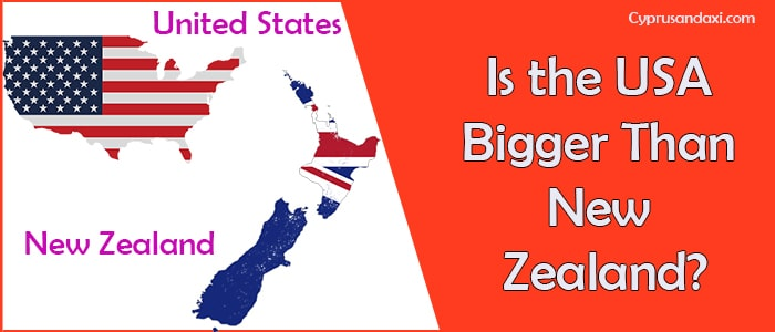 Is the United States of America Bigger Than New Zealand
