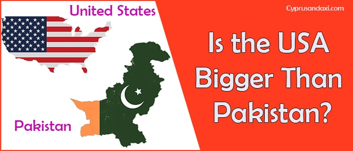 Is the United States of America Bigger Than Pakistan