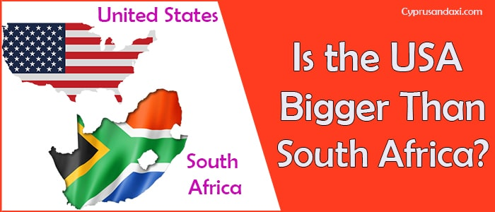 Is the United States of America Bigger Than South Africa
