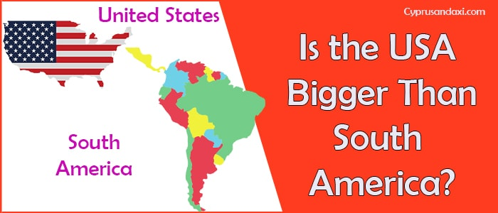 Is the United States of America Bigger Than South America