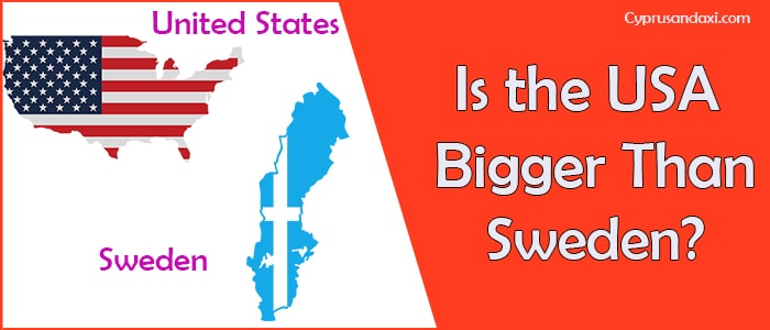 Is the United States of America Bigger Than Sweden