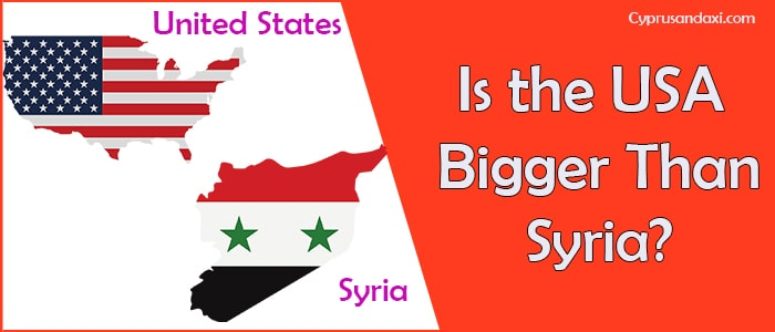 Is the United States of America Bigger Than Syria