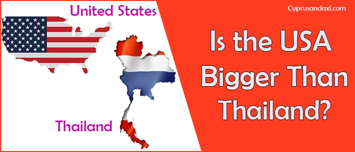 Is the United States of America Bigger Than Thailand