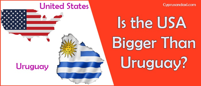 Is the United States of America Bigger Than Uruguay