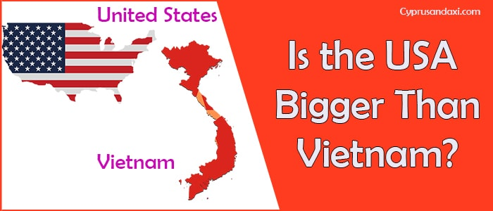 Is the United States of America Bigger Than Vietnam