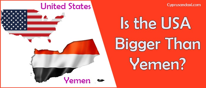 Is the United States of America Bigger Than Yemen