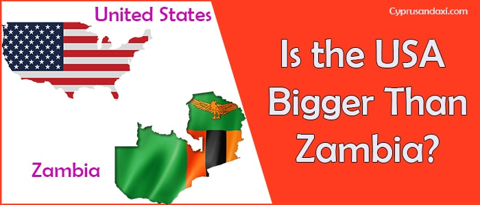 Is the United States of America Bigger Than Zambia