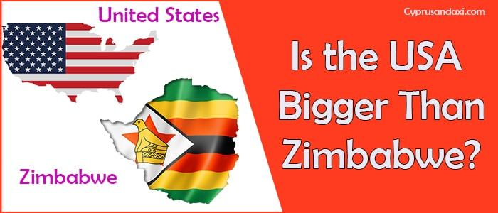 Is the United States of America Bigger Than Zimbabwe