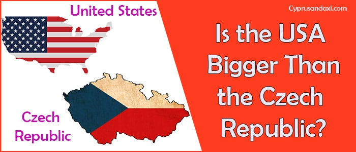Is the United States of America Bigger Than the Czech Republic