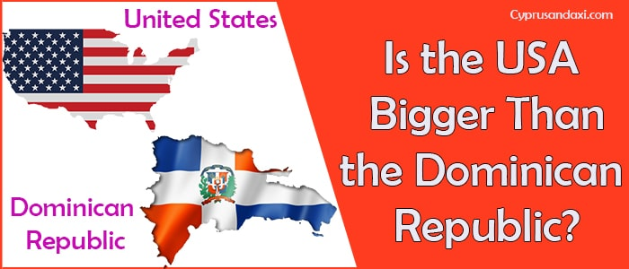 Is the United States of America Bigger Than the Dominican Republic