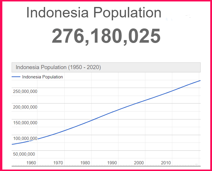 Population of Indonesia compared to Texas