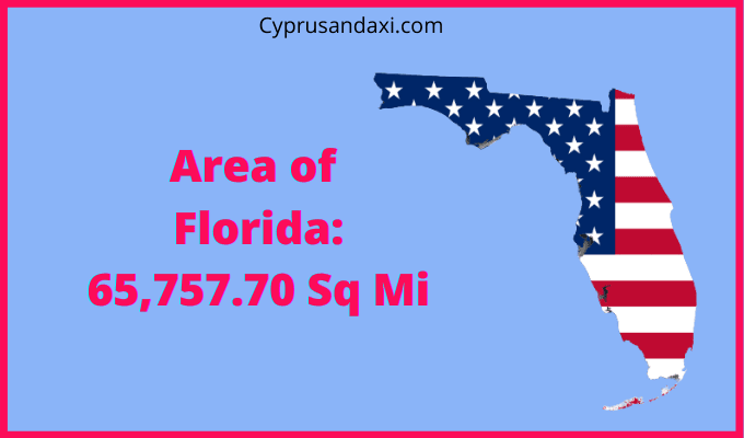 Area of Florida compared to Sicily