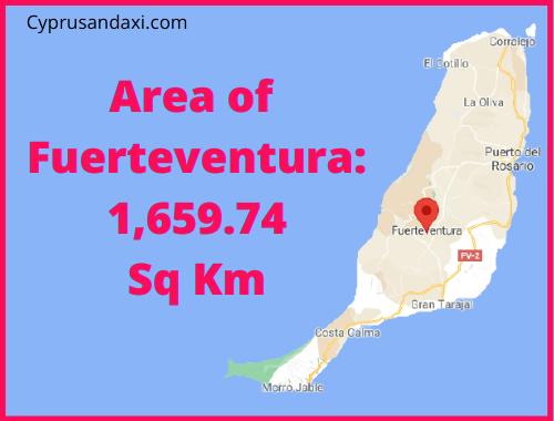 Area of Fuerteventura compared to Tenerife