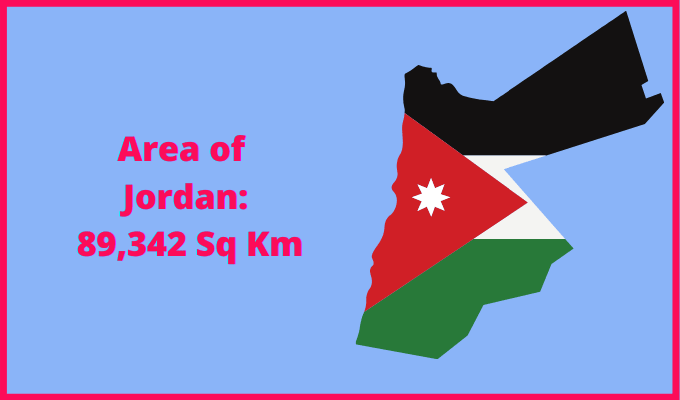 Area of Jordan compared to Rhodes