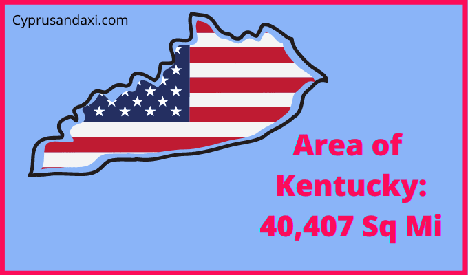 Area of Kentucky compared to Texas