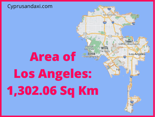 Area of Los Angeles compared to Corfu