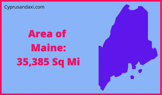 Area of Maine compared to Texas