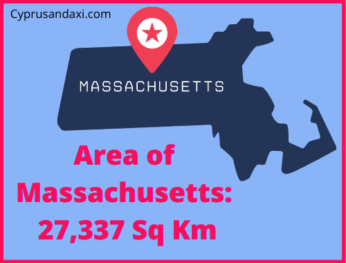 Area of Massachusetts compared to Sicily