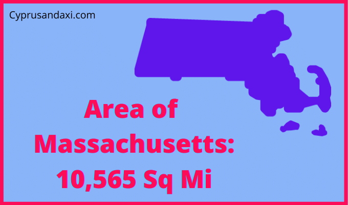 Area of Massachusetts compared to Texas