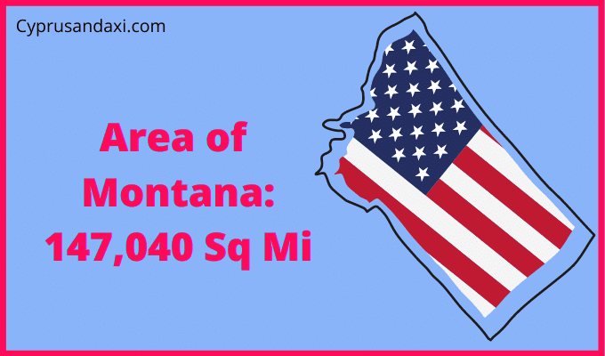 Area of Montana compared to Texas