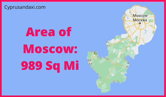 Area of Moscow compared to Texas