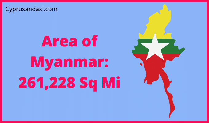 Area of Myanmar compared to Texas