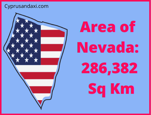 Area of Nevada compared to Rhodes