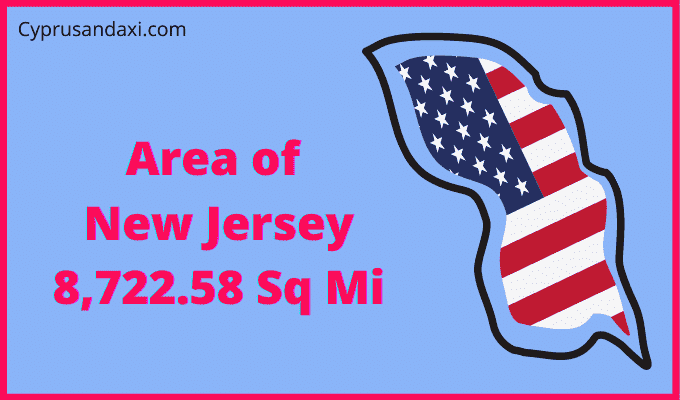 Area of New Jersey compared to Texas