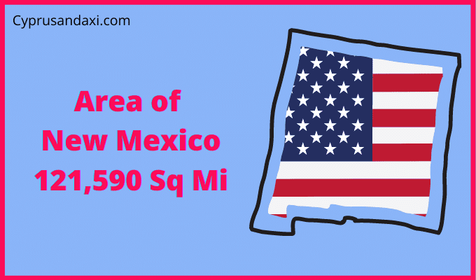 Area of New Mexico compared to Texas