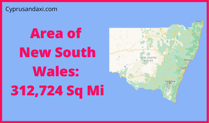 Area of New South Wales compared to Texas