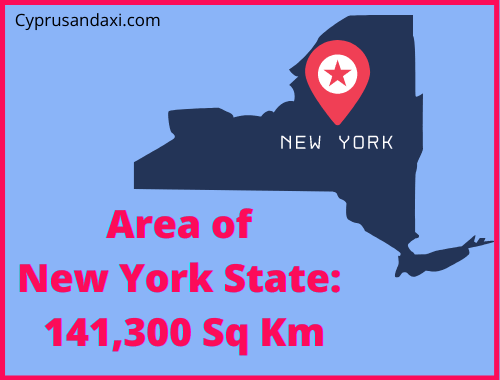 Area of New York State compared to Sicily