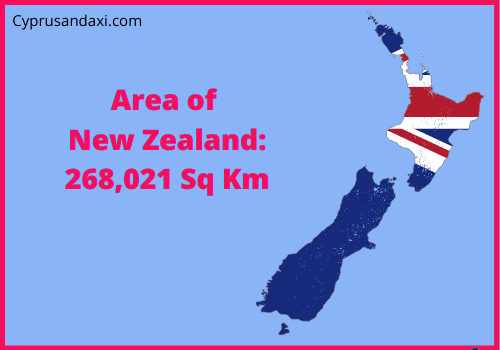 Area of New Zealand compared to Texas