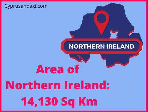 Area of Northern Ireland compared to Sicily