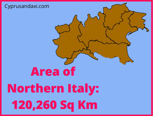 Area of Northern Italy compared to Sicily