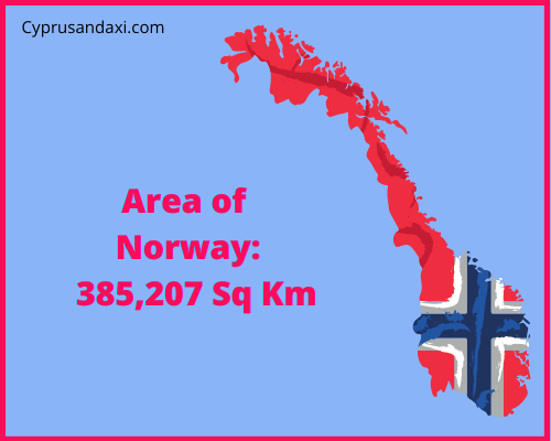 Area of Norway compared to Texas