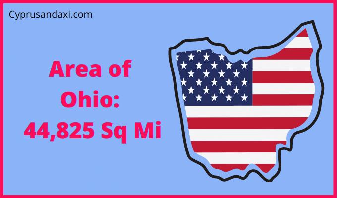Area of Ohio compared to Texas
