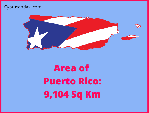 Area of Puerto Rico compared to Texas