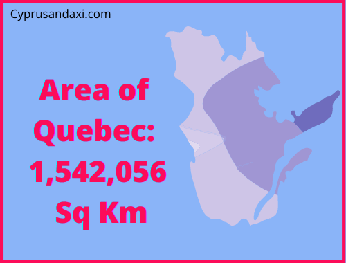 Area of Quebec compared to Sicily